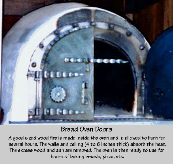 Bread oven doors, forged steel
