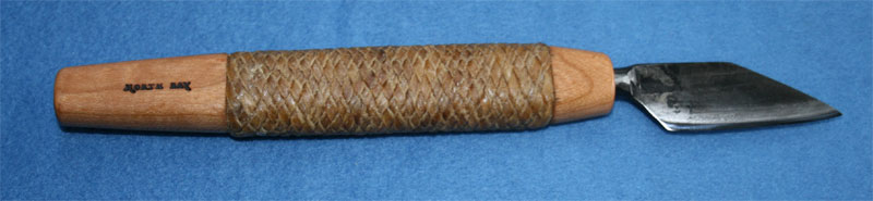 sample of rawhide braided onto handle